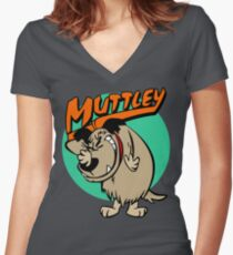 Muttley The Dog Women's Fitted V-Neck T-Shirt