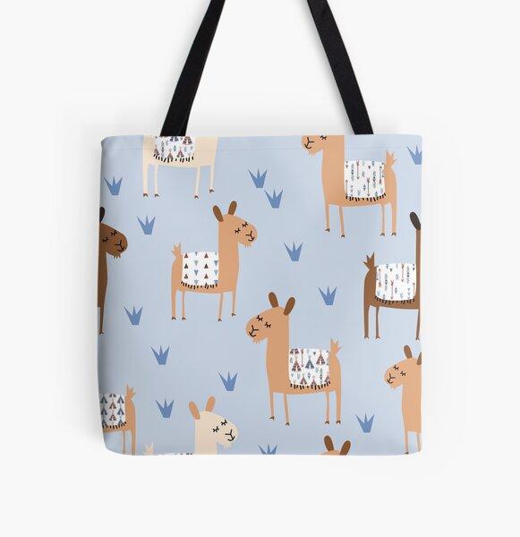 Alpaca All Over Print Tote Bag