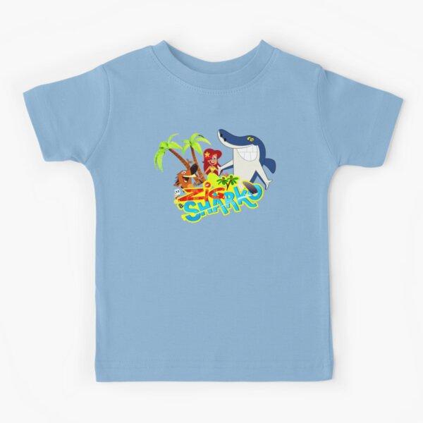 Zig and sharko cartoon exotic party Kids T-Shirt