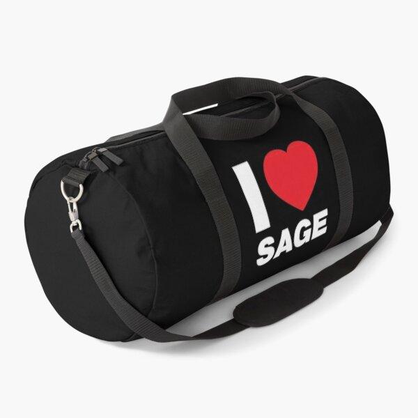 I Love her, Women Girl Daughter Name Sage Duffle Bag