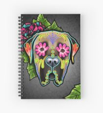 Mastiff in Fawn - Day of the Dead Sugar Skull Dog Spiral Notebook