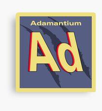 Adamantium Periodic Element Canvas Print