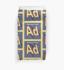 Adamantium Periodic Element Duvet Cover
