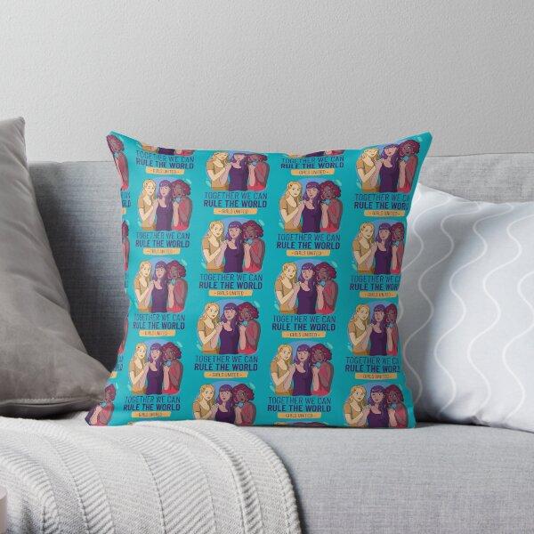 International Women's Day Girls United (B Typography) Throw Pillow