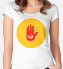 Hand and eye Women's Fitted Scoop T-Shirt