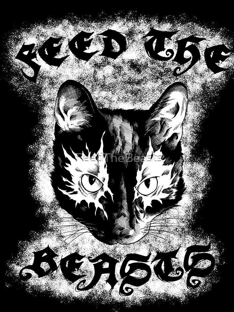 Feed the Beasts V2 (Designed by Jonathan Grimm Art) Proceeds Help Rescue Cats! by FeedTheBeasts