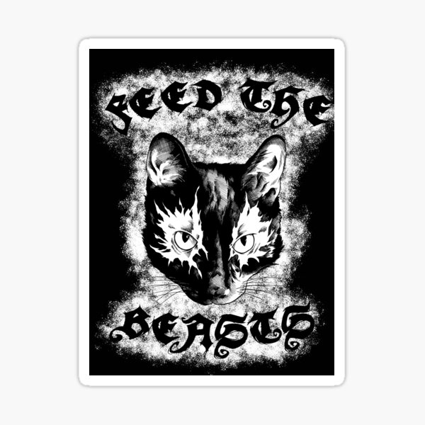 Feed the Beasts V2 (Designed by Jonathan Grimm Art) Proceeds Help Rescue Cats! Sticker