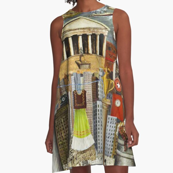 My Dress Hangs There by Frida Kahlo A-Line Dress