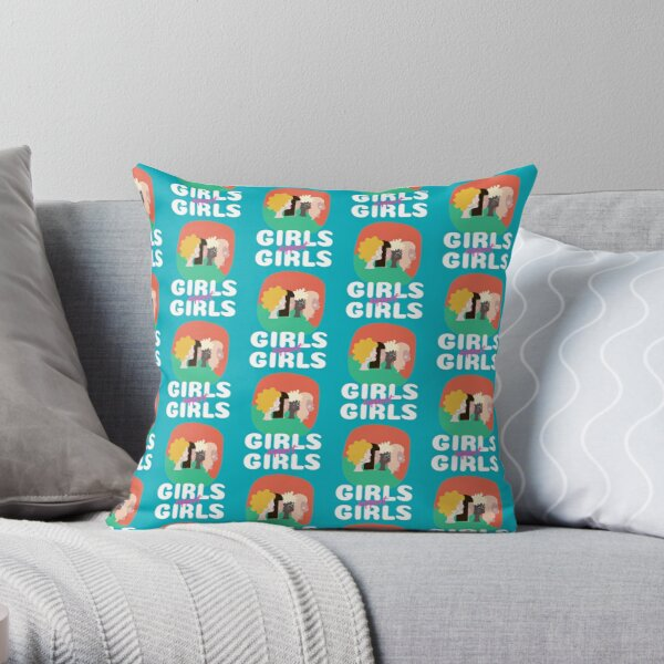 International Women's Day Girls Support Girls (B Typography) Throw Pillow