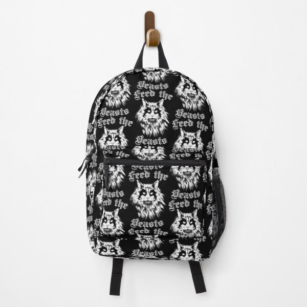 Feed The Beasts (Designed by Jonathan Grimm Art) Proceeds Help Rescue Cats! Backpack