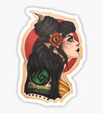 Hannah: the Elf Mage Sticker