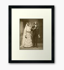 A marriage not made in heaven Framed Print