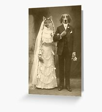 A marriage not made in heaven Greeting Card