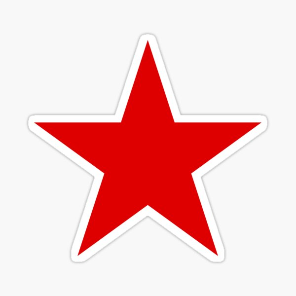 A Red Star Sticker