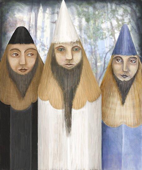 Three Pencilheads  by fizzyjinks