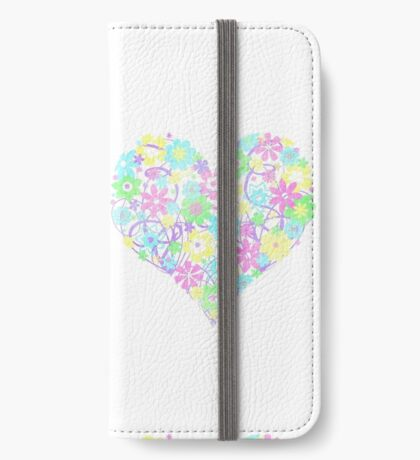 Flowers from the Heart (pastel) iPhone Wallet