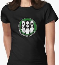 Welcome, cows of Earth! Women's Fitted T-Shirt