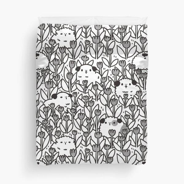 Black and White Guinea pigs Pattern Duvet Cover