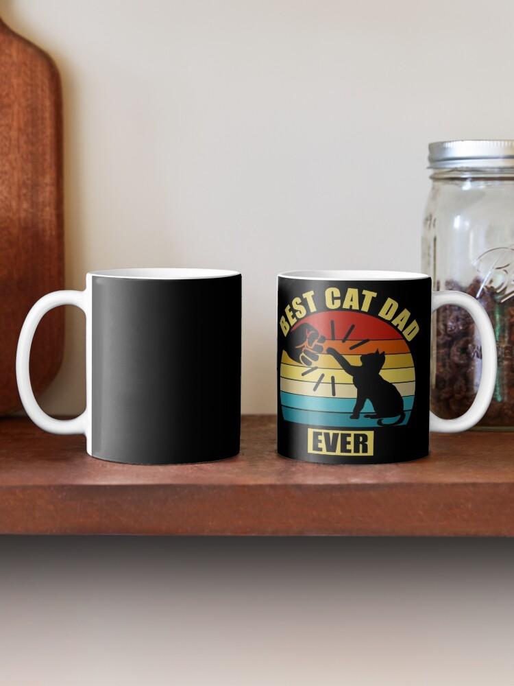 Alternate view of Vintage Best Cat Dad Ever Mug