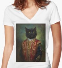 Hermitage Court Moor in casual uniform  Women's Fitted V-Neck T-Shirt