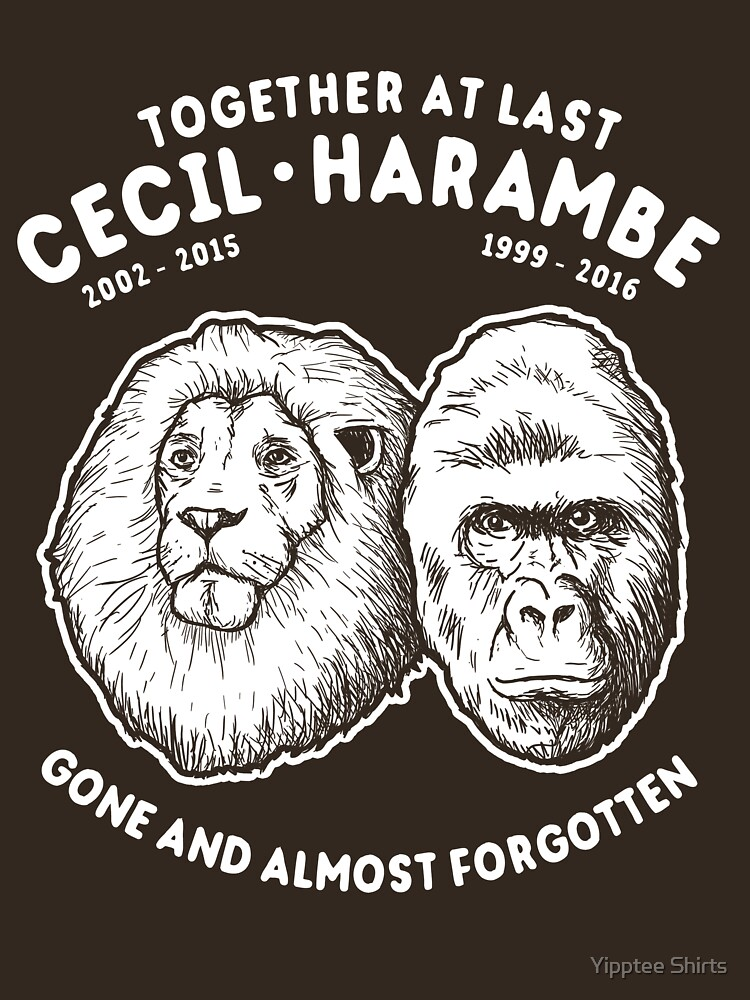 Cecil Harambe Memorial T-Shirt by dumbshirts