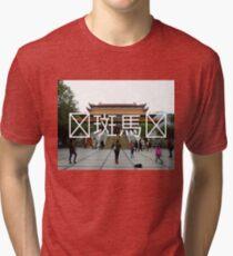 Chinese Writing Po Lin Monastery  Tri-blend T-Shirt