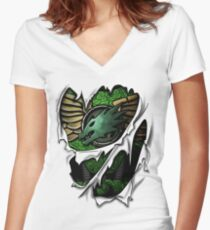 Salamanders Armor Women's Fitted V-Neck T-Shirt
