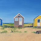 Hengistbury Beach Huts - r by Richard Paul