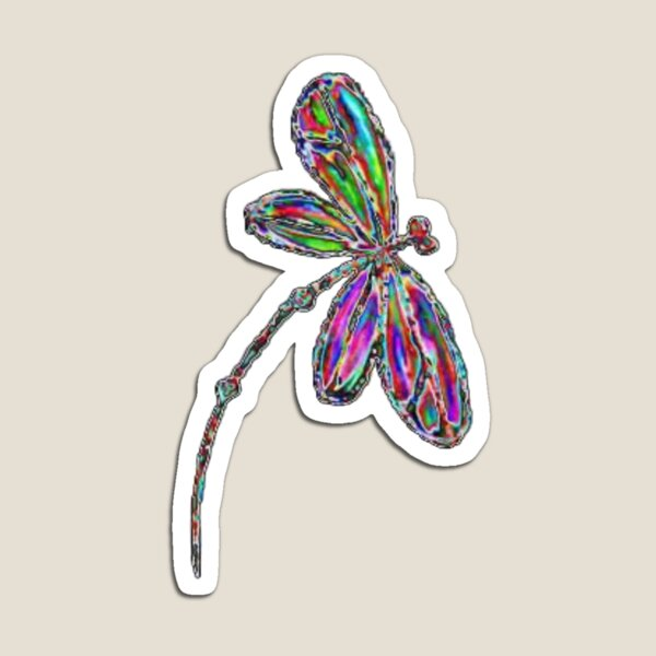Dragonfly  Neon  Magnet