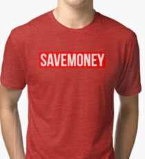 Vic Mensa Save Money Logo  Tri-blend T-Shirt