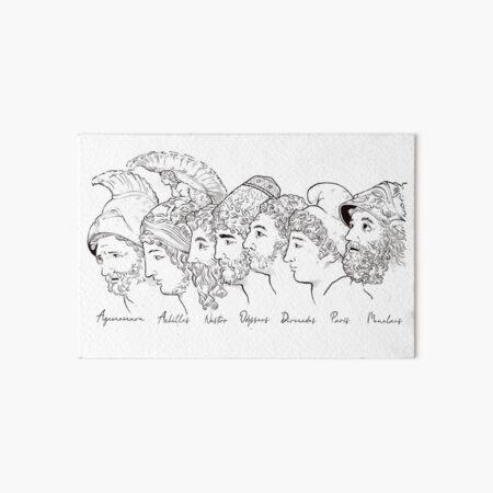 The Homeric Heroes (...and Paris) Art Board Print