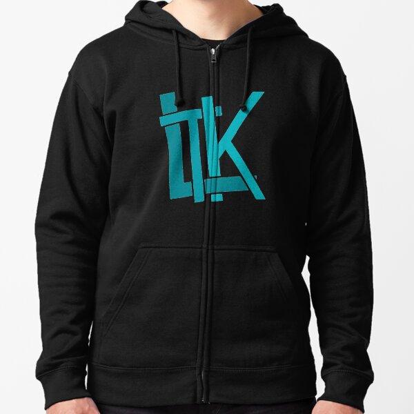 LTK Logo Ocean Teal Zipped Hoodie