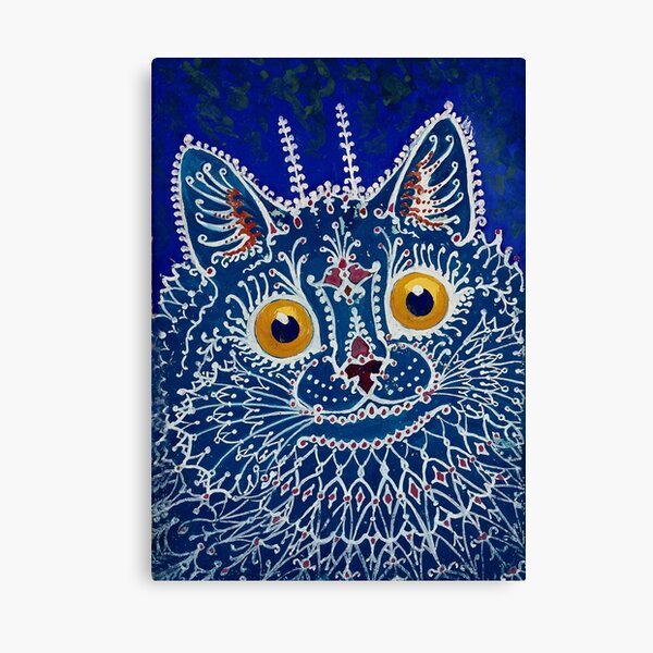 """""""Cat in Gothic Style"""" by Louis Wain Canvas Print"""