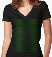 If you can read this you are the one Women's Fitted V-Neck T-Shirt