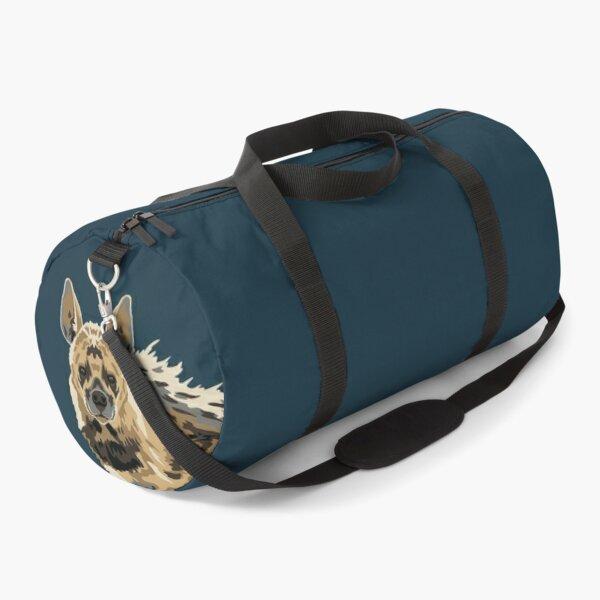 Striped Hyena Portrait Duffle Bag