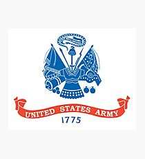 US ARMY, USA, United States Army, American, 1775, Official flag, America,  Photographic Print