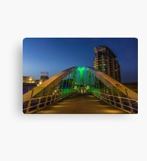 Salford Quays bridge Canvas Print