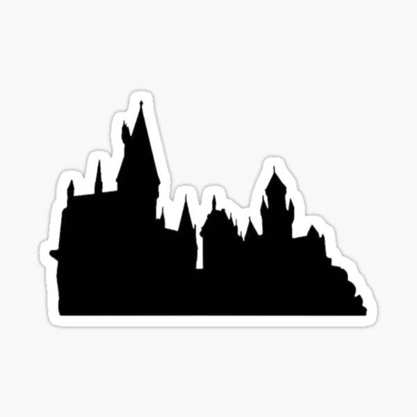 Silhouette de château magique Sticker
