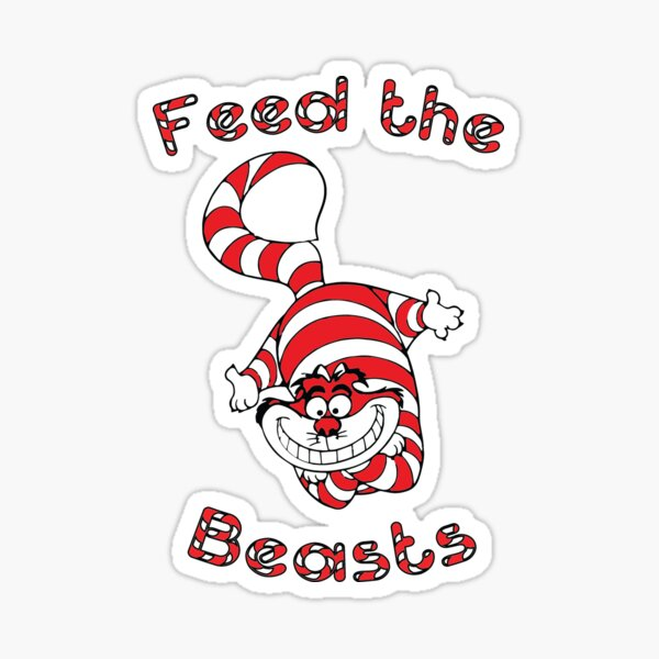 Holiday Feed the Beasts- Designed by Jonathan Grimm Art Sticker