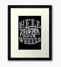 Hell on Wheels - Monotone Framed Print