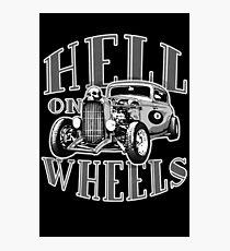 Hell on Wheels - Monotone Photographic Print