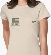 Colonel Infantry US Army Rank Desert by Mision Militar ™ Womens Fitted T-Shirt