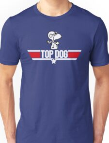 Top Dog Snoopy Top Gun Logo T-shirt Unisex