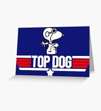 TOP GUN - SNOOPY MAVERICK  Greeting Card