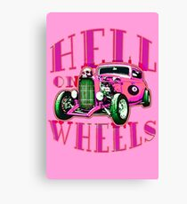 Hell on Wheels - Hot Pink Canvas Print