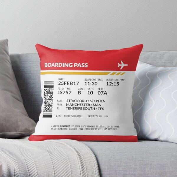 Boarding Pass 5748x5748 SS2 Throw Pillow