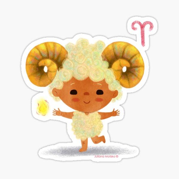 Cute Zodiac Aries Sign Sticker