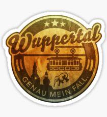 Wuppertal - genau mein Fall, distressed Sticker