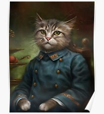 The Hermitage Court Confectioner Apprentice Cat  Poster