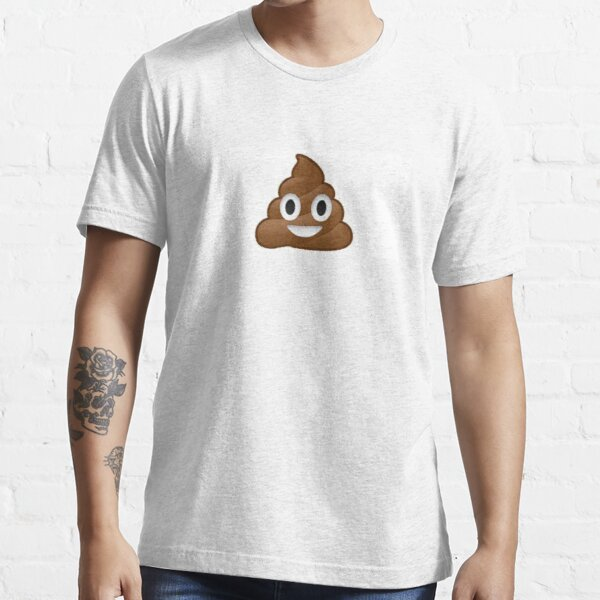 Emoj merde drôle T-shirt essentiel